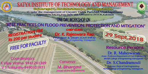 One Day Workshop on  Best Practices on flood prevention protection and mitigation