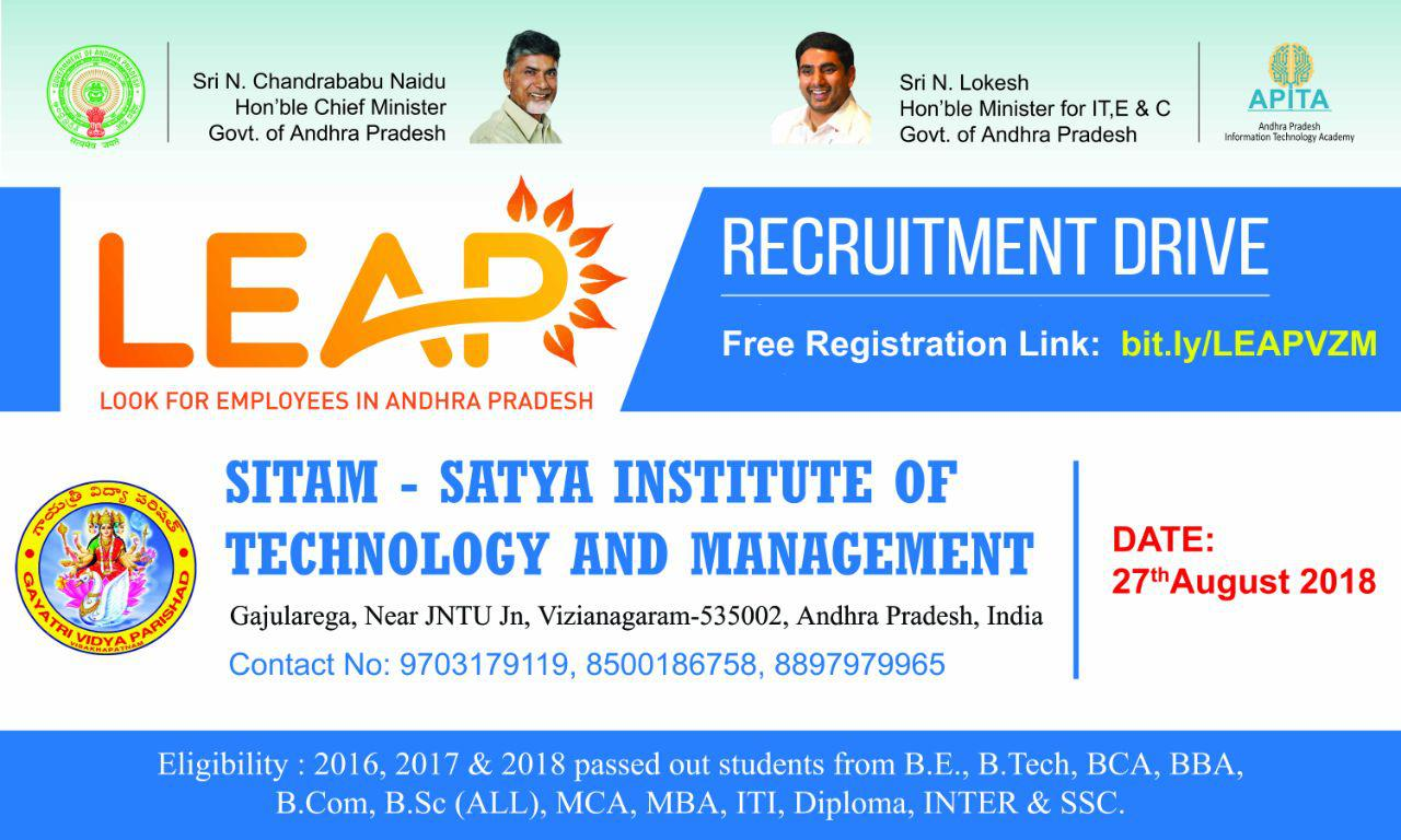 LEAP- @SITAM OPEN CAMPUS DRIVE FOR ALL